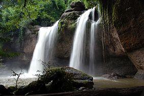 Haeo Suwat waterfall in khao yai national park, nakkhon rachassima, Thailand