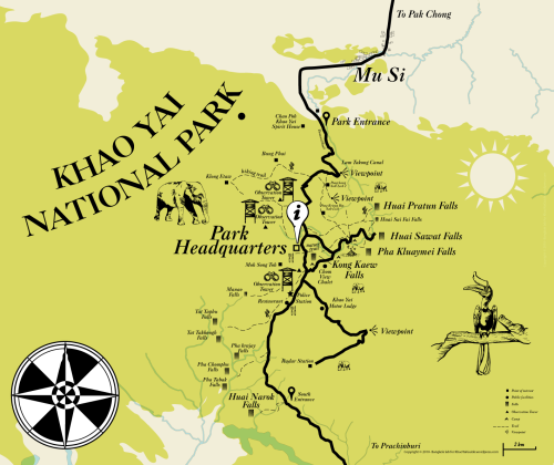 Khao Yai national park orientation map