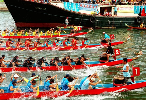 Phimai Thai boat race festival in Nakhon ratchassima province