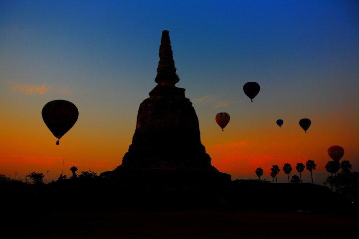 Thailand balloon festival in Khao Yai