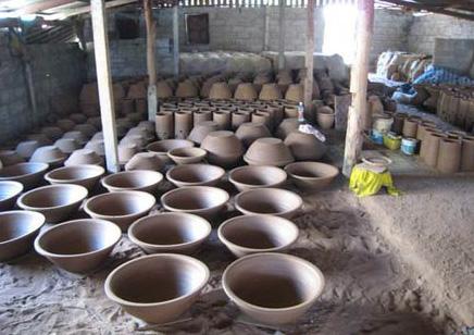 Dan Kwian pottery village in korat province