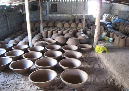 Dan Kwian pottery village in korat province